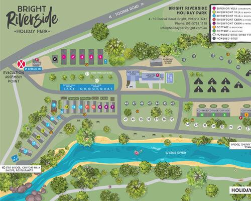 Bright Riverside Holiday Park Map